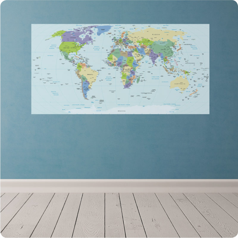 wall decal world map
