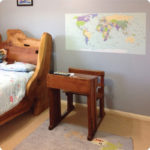 World Map wall poster in the Tasdemir home|As seen in the Menz home|World Map wall poster seen in Carlisle Homes