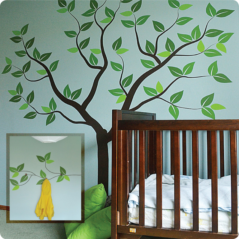 Tree of Seasons removable wall sticker in a child's room