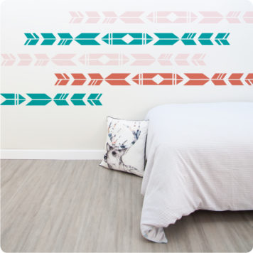 Apache Border wall stickers for girls rooms in a bedroom