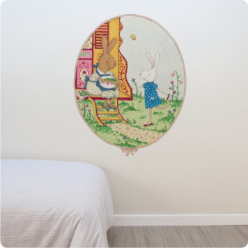 Ruby Red Shoes Chatting with Ruby removable wall stickers in a bedroom
