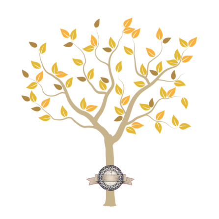 Tree of Seasons removable wall sticker in light brown branches