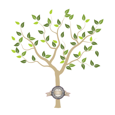 Tree of Seasons removable wall sticker in green