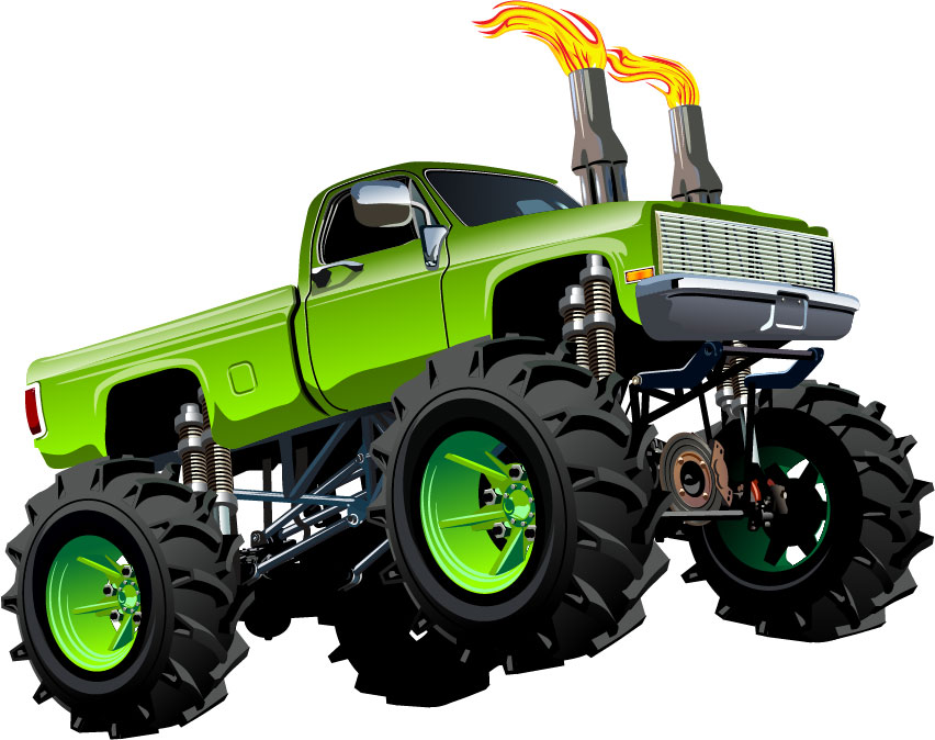 Monster Truck Wall Stickers Part - 29: The Wall Sticker Company