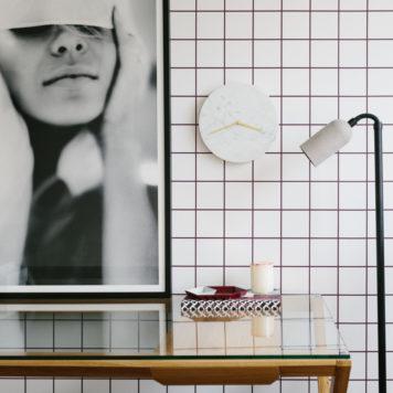 Grid removable wallpaper Australia Australia in a room