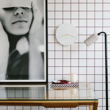 Grid removable wallpaper Australia Australia in a room