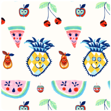 Fruit Salad removable wallpaper Australia by Jane Reiseger