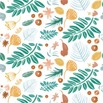 Leafy Days removable wallpaper Australia