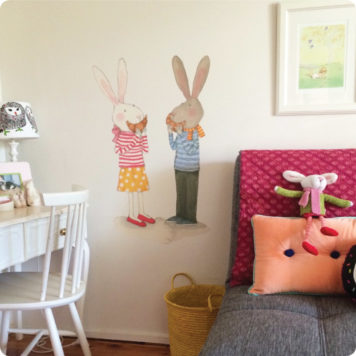 Ruby Red Shoes Brunch with Ruby removable wall stickers in Nicole Brownlee home