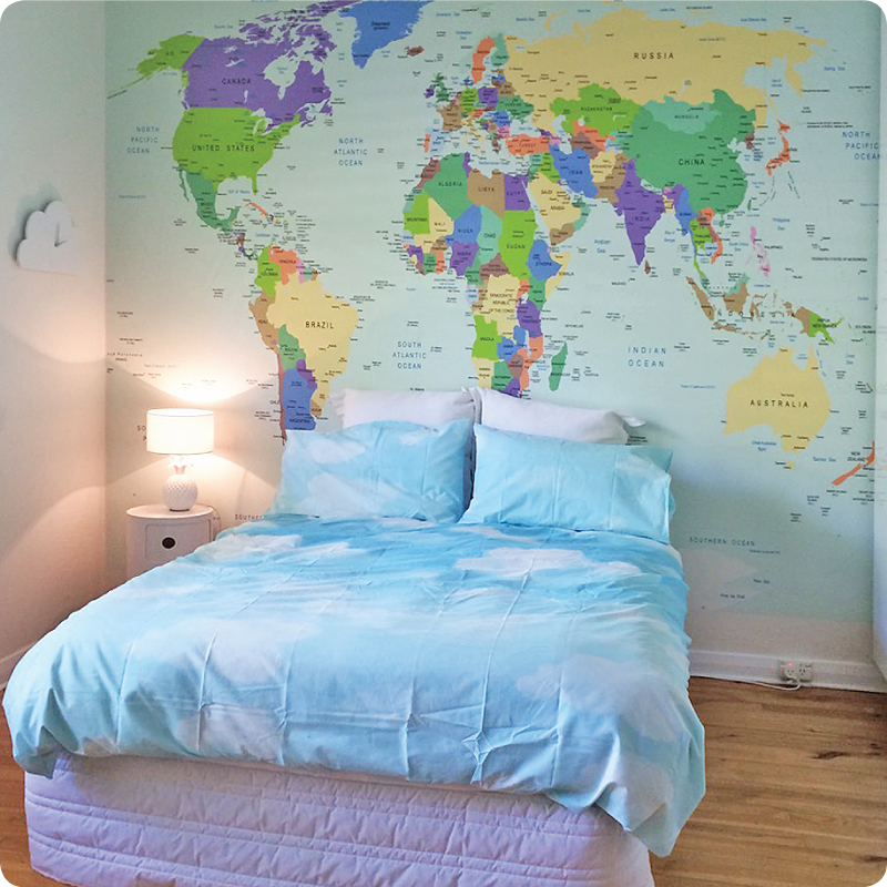 Buy removable wall mural online world map design gumiabroncs Image collections