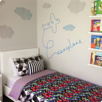 Aeroplane by Jane Reiseger Next to Bed