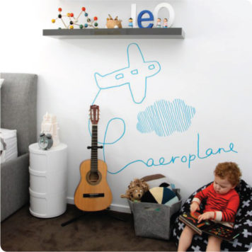 Aeroplane by Jane Reseiger with Boy