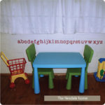 Alphabet – Above Kids Table