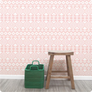 Aztec removable wallpaper Australia for walls with chair in front