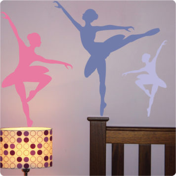 Ballet removable wall stickers for girls room