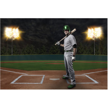 Baseball poster for boys room removable wall sticker