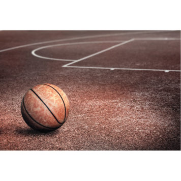 Basketball poster removable wall sticker for boys room