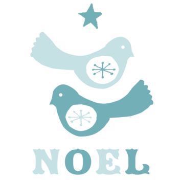 Birdie Noel removable wall stickers by Printspace