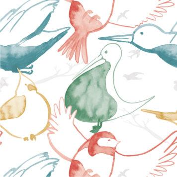 Birds removable wallpaper Australia for walls