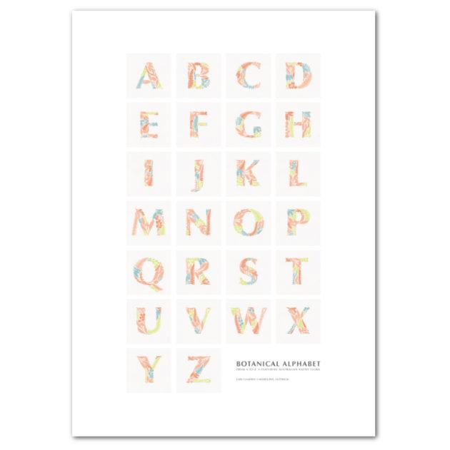 Botanical Alphabet Poster