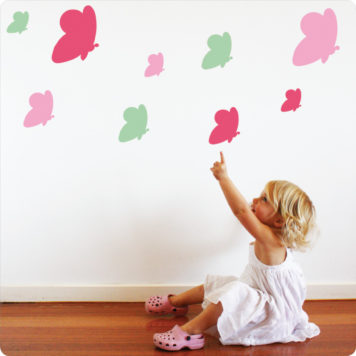 Butterflies removable wall stickers