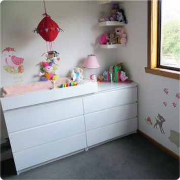 Enchanted Wood removable wall stickers by Cocoon Couture in child's room