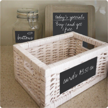 Chalkboard calendar removable wall stickers labels