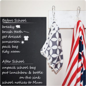 Organise chalkboard removable wall stickers notes