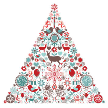 Christmas Icon Tree removable wall stickers