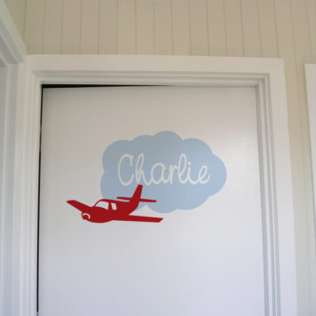 Child name Charlie Door Names removable wall stickers for kids rooms