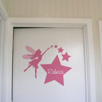 Child name Rebecca Door Names removable wall stickers for kids rooms in fairly design