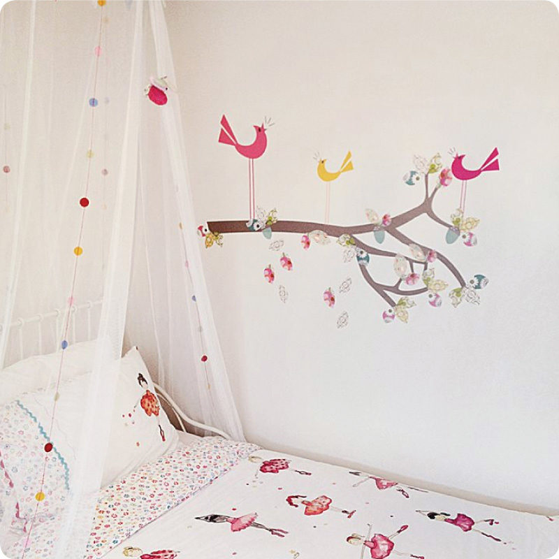 Enchanted Branch removable wall stickers by Cocoon Couture in child's room