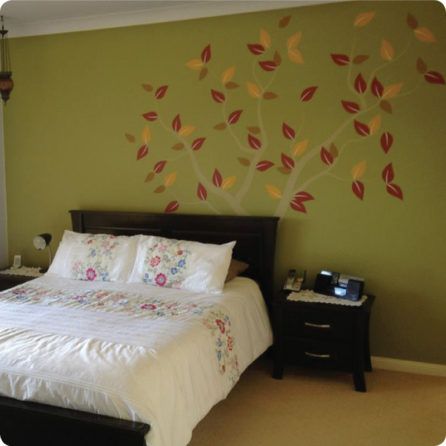 Tree of Seasons removable wall sticker in a bedroom