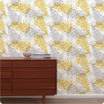 Grevillea removable wallpaper Australia
