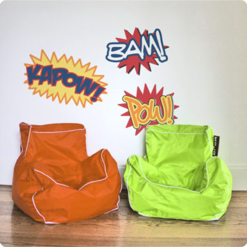Kapow removable comic wall stickers for boys room