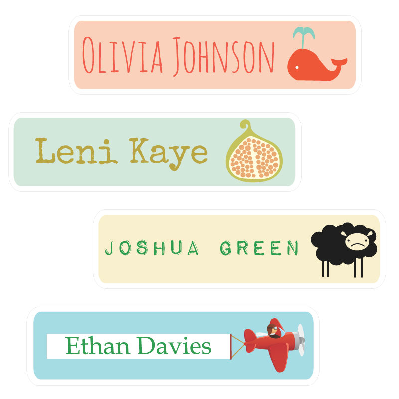 Name Labels removable wall stickers design your own