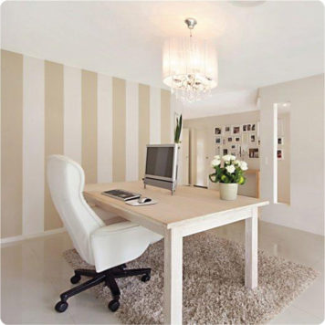 Nautical large stripes removable wallpaper Australia in the Connell home