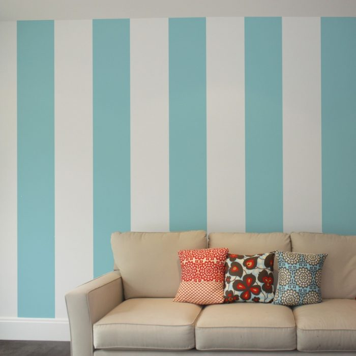 Nautical large stripes removable wallpaper Australia in the Tozer home