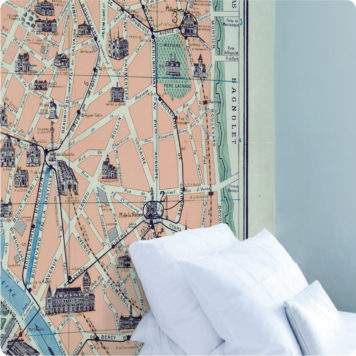 Paris Map 1926 removable wall mural