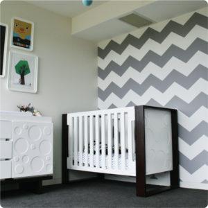 Chevron removable wallpaper Australia Australia in a nursery room