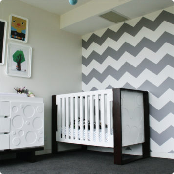 Chevron removable wallpaper Australia Australia in a nursery room