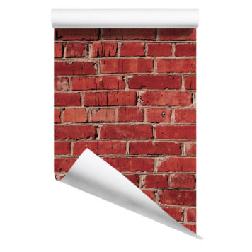 Rolled Red Brick removable wallpaper Australia