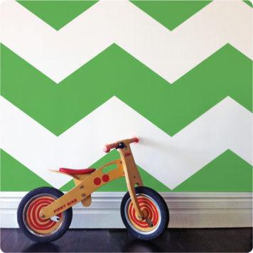 Chevron removable wallpaper Australia Australia with wooden bike in front