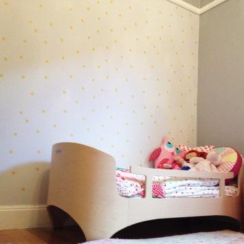 Salvation Jane Spots removable wallpaper Australia in child's room