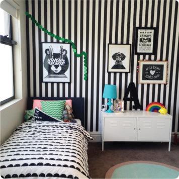 Stripes removable wallpaper Australia Australia in kid's bedroom