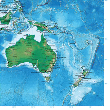 World Map removable geographical mural