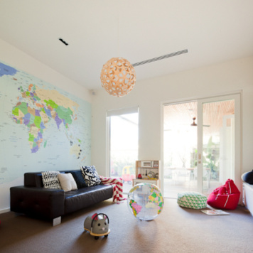World Map removable Wall Mural Australia in the Moorfield home