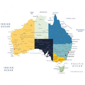 Australia Poster removable wall stickerin dongara