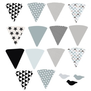 Bunting removable wall sticker