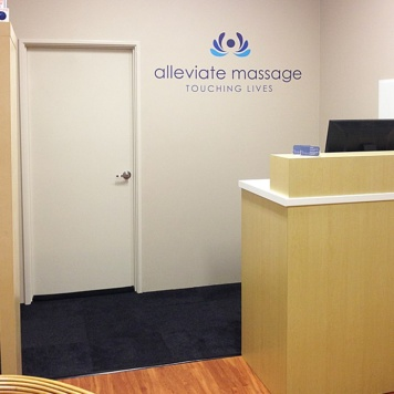 Alleviate Massage removable wall sticker in office